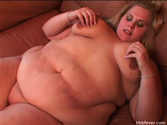 Very huge and fat beauty Christina shows off boobs
