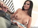 Hot cutie Gianna Lynn gives nice orgasmic tugjob
