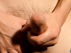 Street boy Cain shows his big cock in hard action