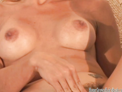 Awesome MILF Mikela blows and fucks big meaty cock