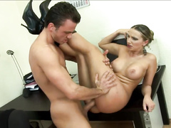 Sexy Latina hottie does amazing sex in the office