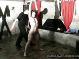 Hot sex slave in stockings bondaged and hard fucked