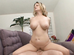 Busty MILF Kayla Quinn brutally fucked in her ass