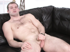 Handsome man felt a shot in the arm while jerking off