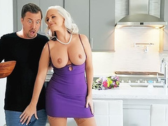 Inexperienced dude fucked his girlfriend's stunning milf mom Alena Croft