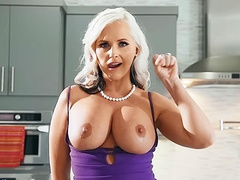 I fucked my girlfriends hot busty mom Alena Croft and it was great