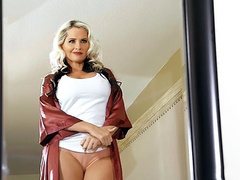 Alena Croft masturbates till she travels back in time to meet Chloe Foster