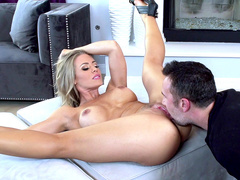 Partner decides to give mom Nicole Aniston cunnilingus before sex