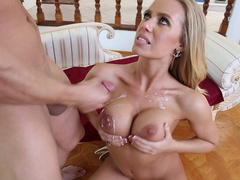 Big tits of naked mom Nicole Aniston covered in sperm after good fuck