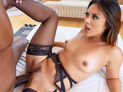 Kaylani Lei spreads legs and welcomes BBC inside her tight snatch