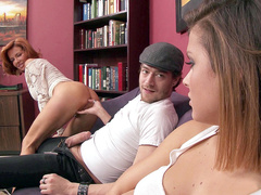 Stepmom Veronica Avluv craves for threesome with Keisha Grey and her boyfriend