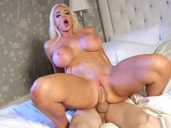 Busty diva Nicolette Shea feels every inch of cock penetrating into pussy