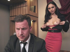 Guy finds butt plug in Ariana Marie's ass after tears daughter's pantyhose
