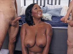 Layton Benton gets a double facial cumshot from Jordi and Ricky