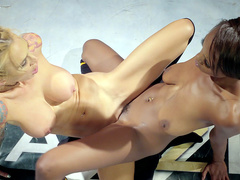 Pussy wrestling with Jezabel Vessir and Sarah Jessie