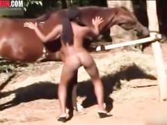 Ebony teen Ebony horse