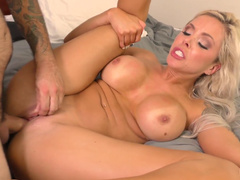 Punished with pussy licking by his nasty step mom Nina Elle