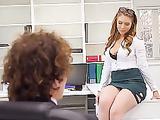 Creampies with sexy office secretary Lena Paul