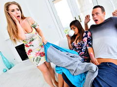 Ella Knox & Lena Paul Share My BF – Stepsister Wife Threesome
