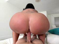 Big ass maid Kailani Kai reverse cowgirl riding her boss