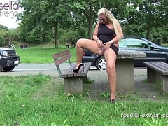 Public rest area Slut, is used dirty by 30 truckers and filled with sperm and piss! Chapter 1 (Attention! Extreme public sex)