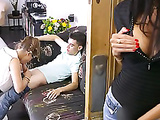 Stepmom Catches 2 Study Fuck Buddies in the Act - Ania Kinski, Zoe Doll, Jordi