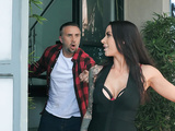 Gorgeous Gia DiMarco walks away after getting her face creamed