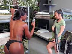 Barracks Bunnies Starring Ana Foxxx and Jade Kush - Reality Kings HD
