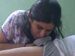 Busty Indian Bhabhi Sucking Lovers Big Cock