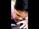 Naughty Young Amateur Indian Babe Sucking Big Cock