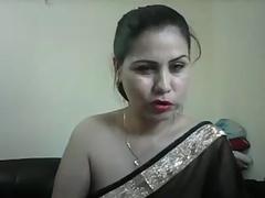 Indian Aunty Meenakshi In Black Sari