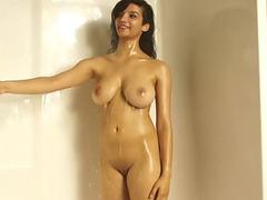 Sensual British Indian Model Shanaya Filmed In Shower Naked