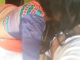 Indian Housewife Seducing Husband Giving Blowjob In Sari