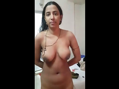 Newly Married Indian Housewife Naked Showing Off