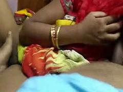 Telugu wife Radha riding on hubby and hard fucking