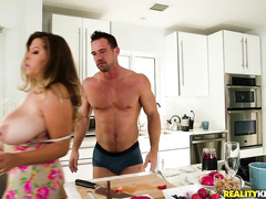 Fuck in the kitchen is kind of XXX dessert for the big-boobied MILF
