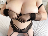 Hot BBW in lace lingerie with hairy pussy (ep.3)