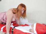 Mommy Caught Santa, Fucked Him And Let Him Cum In Her Phat Wet Pussy.