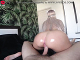Big Booty Babe Deepthroat - Oil Handjob and Cowgirl