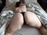 Big Ass Young Girl fucks through panties