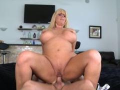 Horny dude Hunter plows busty blonde MILF till cum