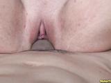Cute whore Vaanessa bouncing her ass on huge cock