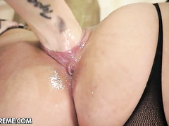 Horny Lyen Parker gets first painful pussy fisting