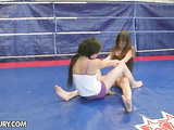 Hot gals Kerry vs Amanda Moore fighting and fucking